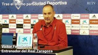"""Víctor Fernández, del Real Zaragoza: """"Nuestra Recopa es salvar al equipo"""""""