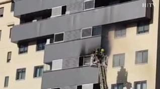 Incendio en la calle Muel de Zaragoza