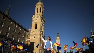 Inés Arrimadas, en Zaragoza