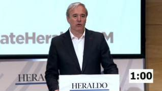 Minuto de oro de Jorge Azcón, candidato del PP al Ayuntamiento de Zaragoza