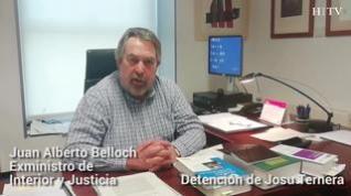 Declaraciones de Juan Alberto Belloch tras la detención del etarra Josu Ternera