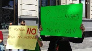 """Protesta de las Escuelas Infantiles: """"Nuestro trabajo es muy bonito pero tenemos que comer"""""""