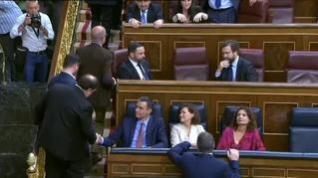 La breve conversación entre Pedro Sánchez y Junqueras
