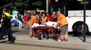Herida una mujer al ser atropellada por un autobús en Zaragoza