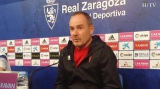 """Víctor Fernández, del Real Zaragoza: """"No voy a permitir que nadie se relaje hasta el último partido"""""""