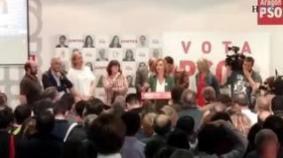 """Pilar Alegría: """"Apelo a la responsabilidad para que VOX no entre en el Gobierno de Zaragoza"""""""