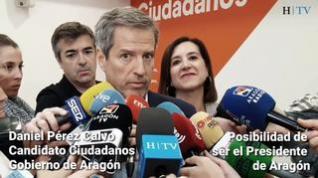 """Daniel Pérez Calvo: """"Si me he presentado a las elecciones ha sido para ser presidente de Aragón"""""""