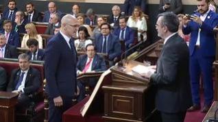 La Mesa del Senado suspende de sus funciones a Romeva, con el voto en contra del PNV
