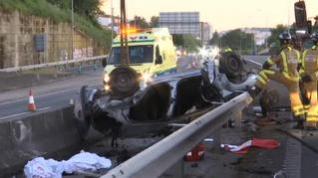 Tres jóvenes muertos en un brutal accidente en Vigo