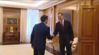 Albert Rivera se reúne con el Rey en La Zarzuela