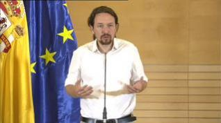 """Iglesias: """"La reunión con Sánchez para un Gobierno de cooperación ha ido bien"""""""