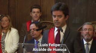 Luis Felipe, alcalde por sorpresa (y sin discurso preparado) de Huesca
