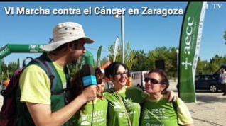Más de 2.400 personas participan en la VI Marcha Contra el Cáncer de Zaragoza