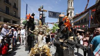 El mercado medieval de Zaragoza se despide