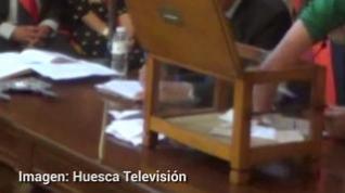 Así fue la votación a alcalde en el Ayuntamiento de Huesca