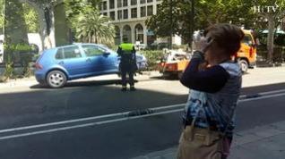 Una colisión entre un coche y un autobús provoca retenciones en el centro de Zaragoza