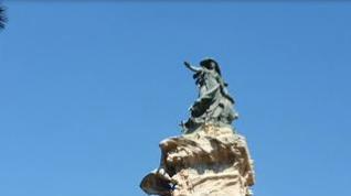 La alegoría de Zaragoza que vigila la ciudad