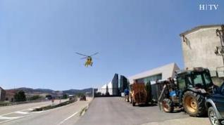 Dos muertos y un herido muy grave en un accidente laboral en Bodegas Paniza