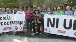 Los sindicatos protestan por los últimos accidentes laborales