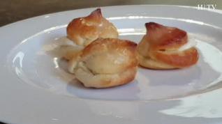 Receta con niños: Profiteroles con crema de manzana