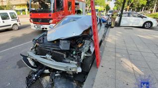 Accidente de tráfico en La Almozara