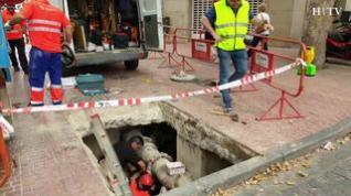 Varias calles del centro de Zaragoza, sin agua