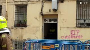 Derrumbe parcial de un edificio en el barrio de Jesús de Zaragoza