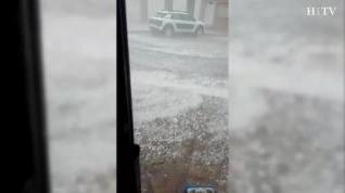 Una fuerte granizada provoca importantes daños en Villanueva de Huerva