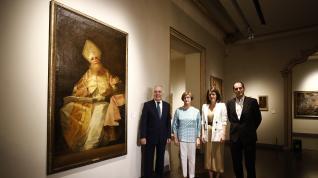 El cuadro 'San Agustín', del pintor de Fuendetodos, llega al Museo Goya de la Fundación Ibercaja.