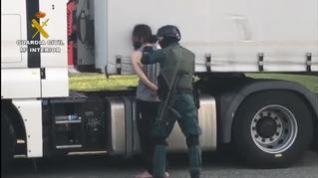 El individuo, de 48 años y origen marroquí, ha sido arrestado en el interior de un camión aparcado en un polígono industrial
