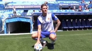 Presentación oficial de Carlos Vigaray, nuevo jugador del Real Zaragoza