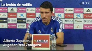 """Zapater, del Real Zaragoza: """"El zaragocismo siempre está ahí, tenemos que agarrarnos a ellos"""""""