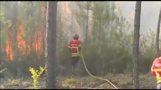 800 bomberos luchan en Portugal contra un gran incendio forestal