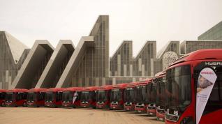 Presentación de 17 nuevos autobuses híbrido para Zaragoza