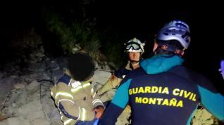 Rescate de un herido en el embalse de las Torcas, en Tosos