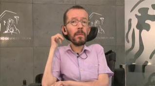 """Echenique cree que el PSOE no quería negociar sino que necesitaba """"una coartada"""" para buscar """"el apoyo de los amigos de VOX"""""""