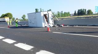 Accidente en la A-2 a la altura de Malpica