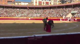 Pablo Aguado ha sido prendido y encunado con peligro por un toro incierto