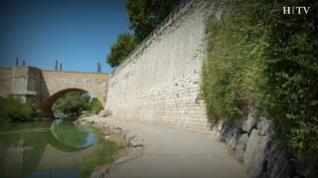 El pretil de San Lázaro, la gran pared que mira al Ebro