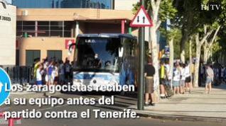 Calurosa bienvenida al Real Zaragoza en La Romareda
