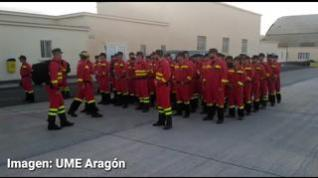 La UME de Aragón envía 68 efectivos al incendio de Canarias