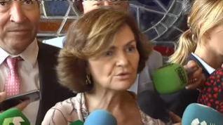 """Carmen Calvo tira de ironía: """"Todo el mundo sabe que me parezco mucho a Salvini"""""""