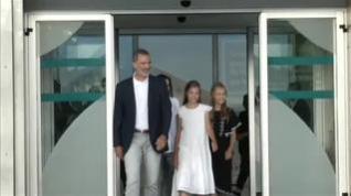 """Felipe VI tras la visita a su padre en el hospital: """"Da gusto verle tan bien y tan animado"""""""