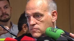 Tebas declara en el juicio del Levante-Zaragoza