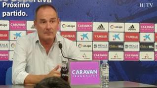 """Víctor Fernández, del Real Zaragoza: """"Necesitaremos tener muy buen ritmo de balón"""""""