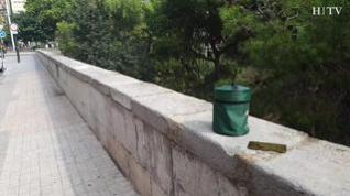 Abandonan una urna funeraria junto al río Huerva, en pleno centro de Zaragoza
