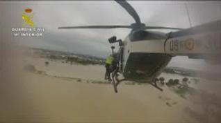 La Guardia Civil de Huesca participa en las labores de rescate en Alicante