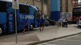 Así ha recibido la afición al Real Zaragoza, antes del partido frente al Extremadura