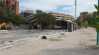 Comienza el montaje de la Carpa Aragón para las Fiestas del Pilar en Zaragoza