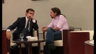 Polémica por la publicación de una foto de Rivera e Iglesias en la cafetería del Congreso